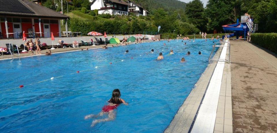 Großzügiges Schwimmbecken