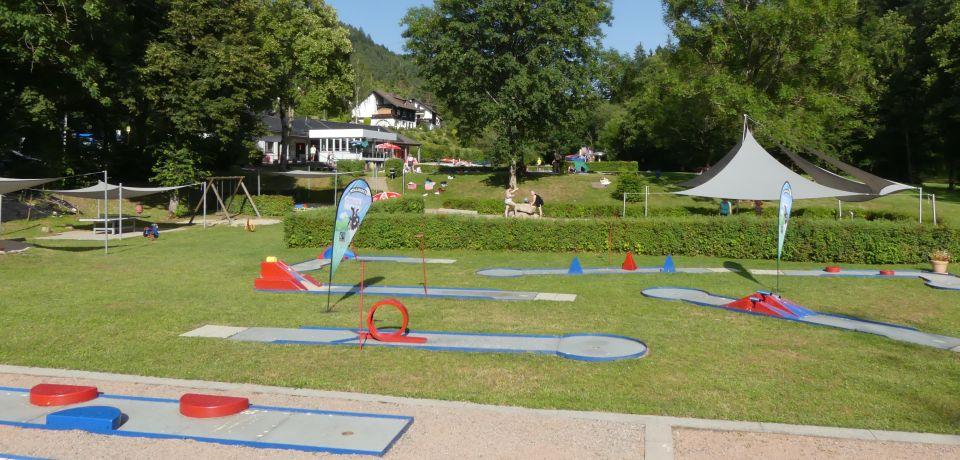 Minigolfplatz auf dem Gelände